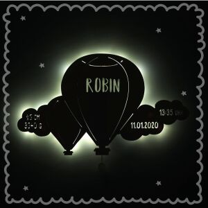 """Night light """"Bruno the balloon with cloud""""..."""