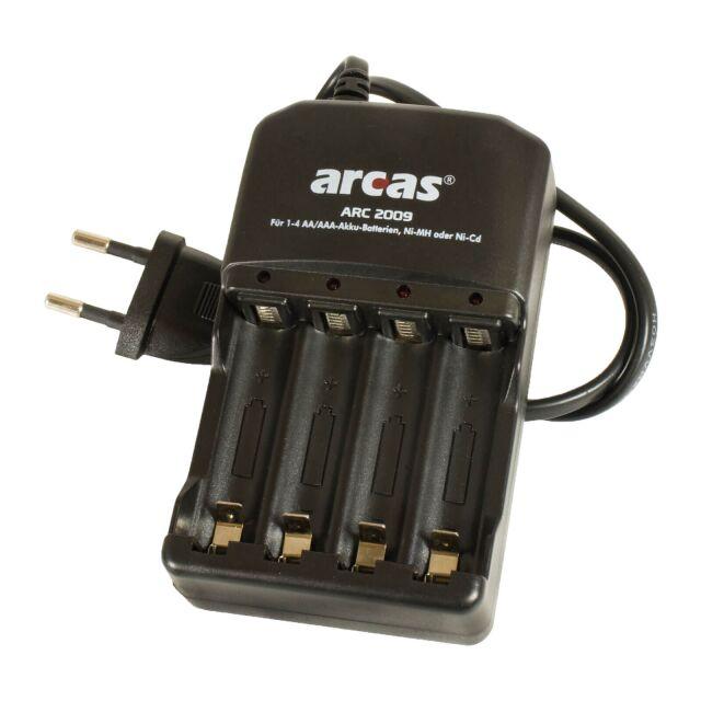 Arcas Ladegerät ARC-2009 für AA & AAA Akkus