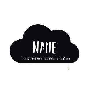 Night Light Willi the Cloud personalized for Babys and...