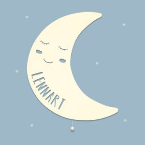 """Night light """"Milo the moon"""" personalized for..."""