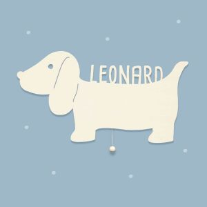 Night light David the Dachshund personalized for baby and...