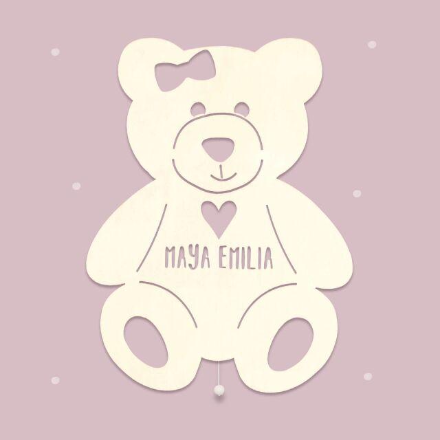 """Night light """"Tilda the Teddy bear with heart""""..."""