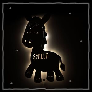 """Night light """"Emil the donkey"""" personalized for baby and child"""