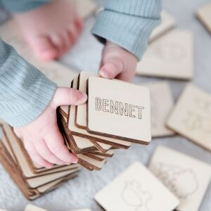 """Personalized Memory Game """"Animal World"""" Motifs 12 Pairs Two Pairs"""