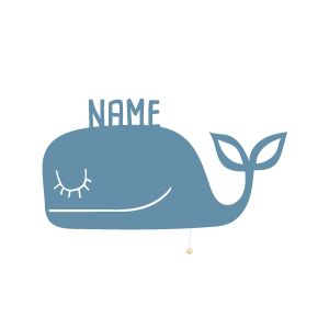 Night Light Wilma the Whale personalized for Babys and Kids