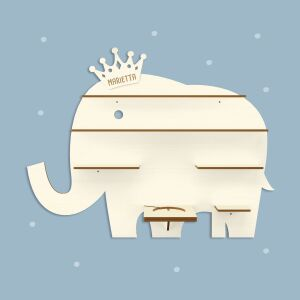 """Personalized shelf """"Elephant"""" suitable for the Toniebox and Tonie figures Wall shelf for childrens music box"""