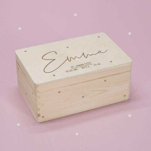 "Reminder box ""Herzkind"" personalized for child..."