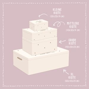 """Reminder box """"Sternkind"""" personalized for Child & Baby"""