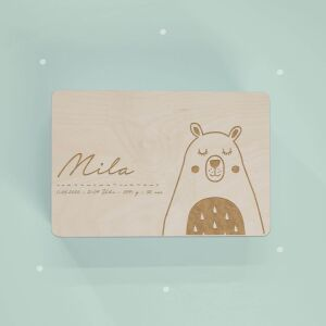 """Reminder box """"Bear"""" personalized for Child..."""