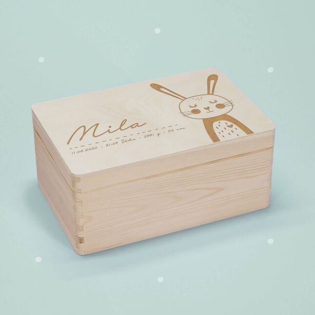 Reminder box Rabbit personalized for child & baby