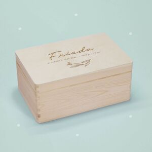 """Memory box """"Leaves"""" personalized for child..."""