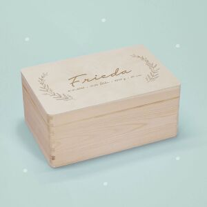 """Memory box """"Plant"""" personalized for child &..."""