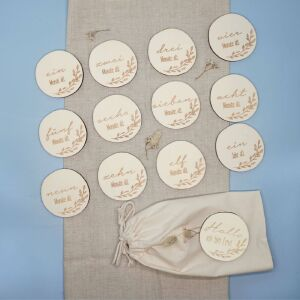 """Personalized milestone cards for baby """"leaves"""" set"""