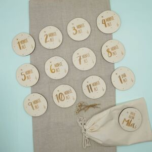 """Personalized milestone cards for baby """"starry..."""