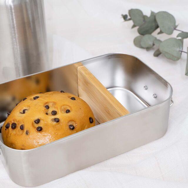 """Lunchbox """"Krone Mädchen"""" personalisiert für Kinder Brotdose Metalldose mit Bambusdeckel 750ml"""