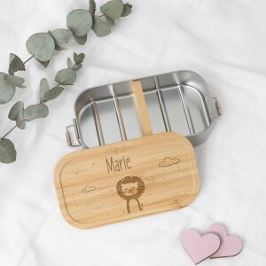 """Lunchbox """"Lion"""" personalized for children Metal..."""