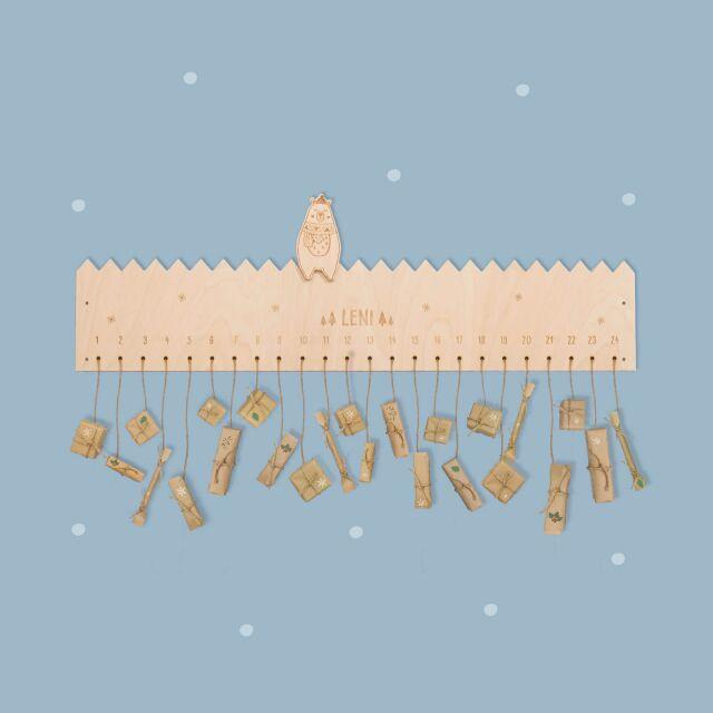 """Advent calendar """"Berta the bear"""" personalized..."""