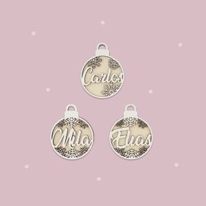"""Christmas bauble """"3D"""" Set of 3 personalized..."""