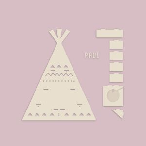 """Personalized shelf """"Tipi"""" suitable for Toniebox and Tonie figures Wall shelf for children music box"""