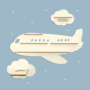"""Personalized shelf """"Airplane"""" suitable for Toniebox and Tonie figurines Wall shelf for childrens music box"""