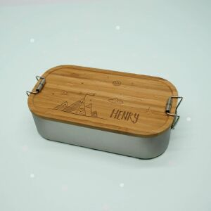 """Lunch box """"Mountain World"""" personalized for..."""