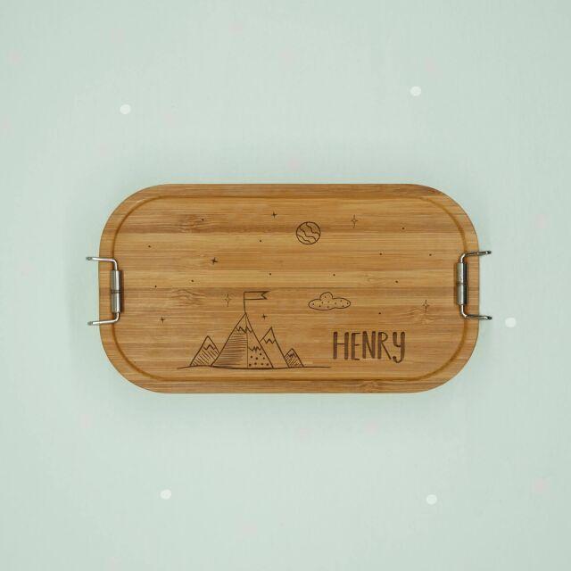 """Lunchbox """"Bergwelt"""" personalisiert für..."""