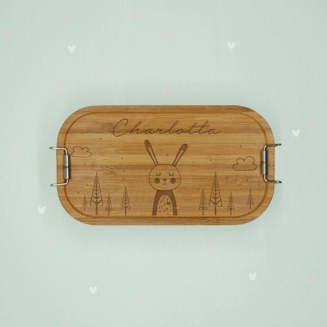 """Lunchbox """"Hase"""" personalisiert für Kinder..."""