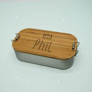 """Lunch box """"crown boys"""" personalized for..."""