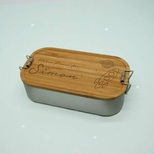 """Lunch box """"Space"""" personalized for children..."""