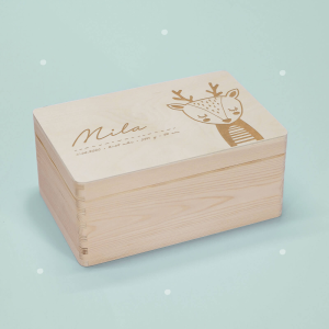 """Memory box """"Deer"""" personalized for child &..."""