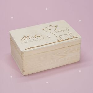 """Memory box """"Fawn"""" personalized for child &..."""