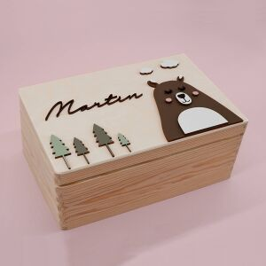 """Memory box """"Bear"""" 3D personalized for child..."""