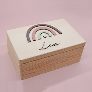"""Memory box """"Rainbow"""" 3D personalized for child..."""