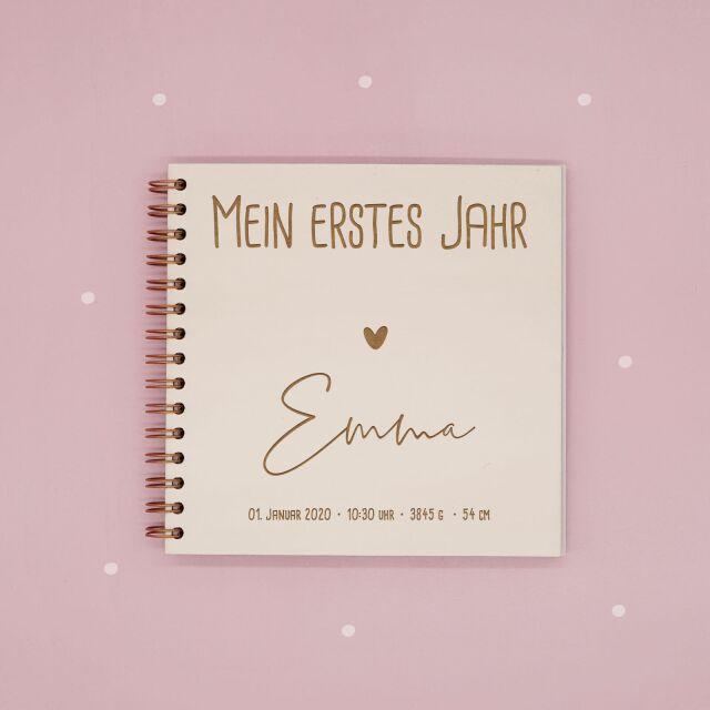 Babybuch Mein erstes Jahr - Personalisiertes Erinnerungsbuch für Babys