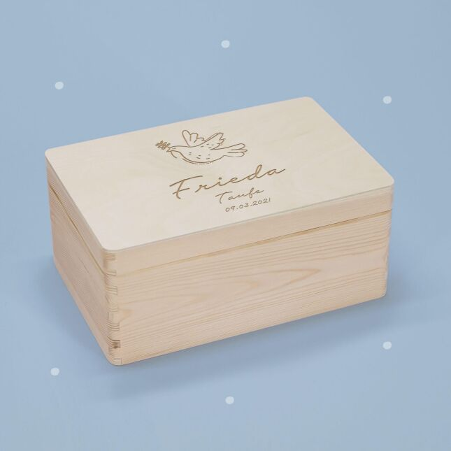Memory box Dove personalized for child & baby