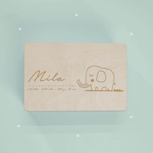 """Memory box """"Elephant"""" personalized for child..."""