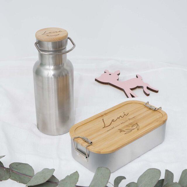 """Lunchbox & Trinkflasche """"Blätter""""..."""
