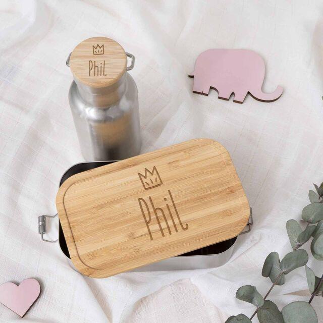"""Lunchbox & Trinkflasche """"Krone Jungs""""..."""