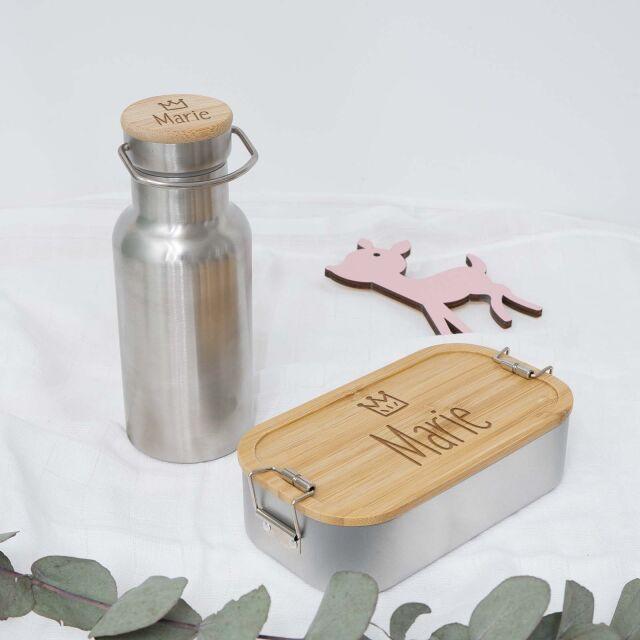 """Lunchbox & Trinkflasche """"Krone..."""