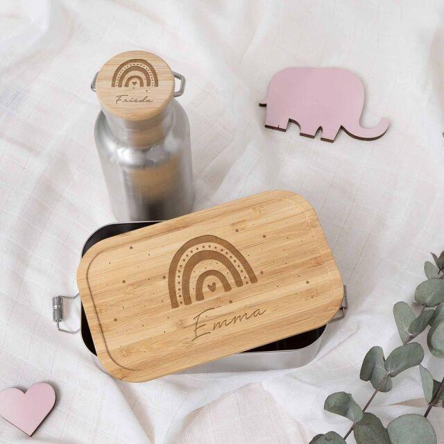 """Lunchbox & Trinkflasche """"Regenbogen""""..."""