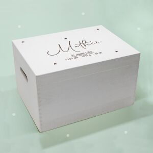 """Memory box white """"starry sky"""" personalized for..."""