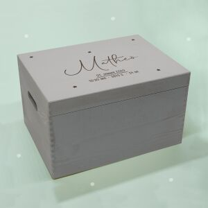 """Memory box gray """"starry sky"""" personalized for..."""
