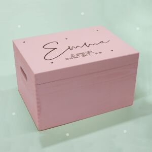 """Memory box old pink """"Heart child"""" personalized..."""