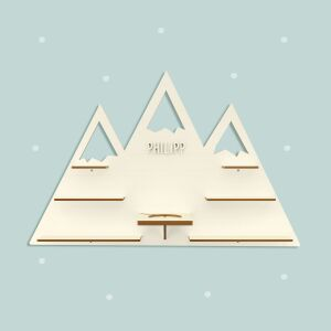 """Personalized shelf """"Mountains"""" suitable for..."""