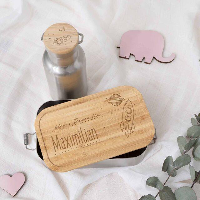 """Lunchbox & Trinkflasche """"Rakete""""..."""
