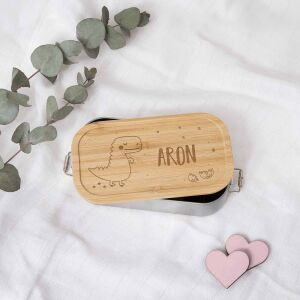 """Lunch box """"Dino"""" personalized for children..."""