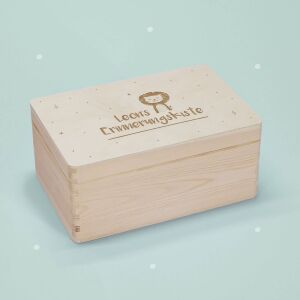 """Memory box """"little lion"""" personalized for child..."""