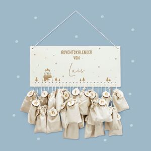 """Advent calendar """"Winter Bear"""" personalized for child"""