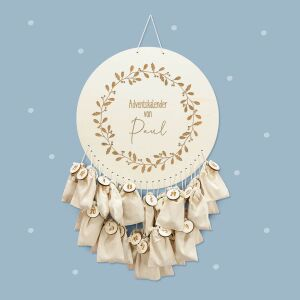 """Advent calendar """"Wreath of twigs"""" personalized..."""