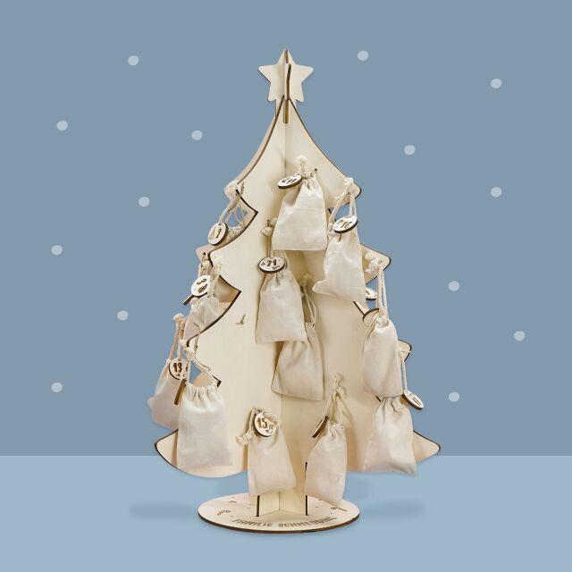 "Advent calendar ""Christmas tree"" personalized..."